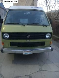 1983 VW Vanagon Westfalia Full Camper, Automatic
