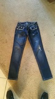 "Miss Me jeans size 27 with 30"" inseam"