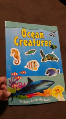 Ocean creatures sticker book(still has all stickers see pics)