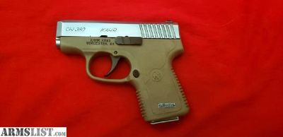 For Sale/Trade: Kahr CW380 two-tone patriot brown and nickel