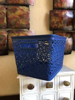 Whimsical Storage Tote in Navy Blue