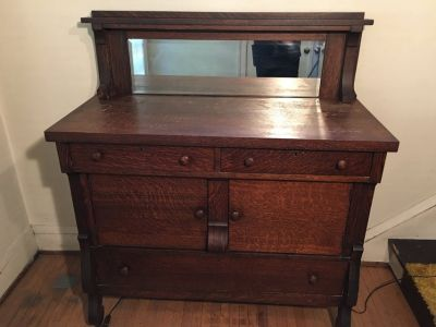 Mission Style Buffet/sideboard with beveled mirror