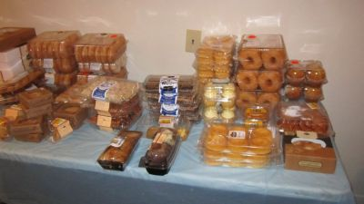 FREE BREAD PRODUCTS, PASTRIES AND OTHER FOOD ITEMS