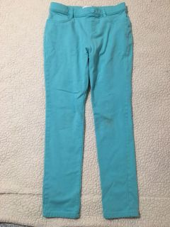 Girls children s place teal pants, fit like leggings, guc size 10