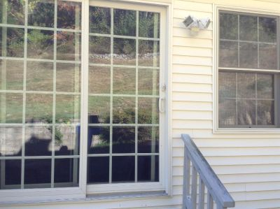 Sliding glass door compleat with hardware .