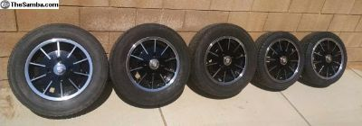 Brand New Gasser 4 bolt wheels and Tires