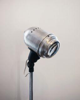 Vintage Industrial Floor Lamp Spotlight Magnifying