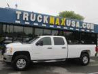 2012 Chevrolet Silverado 2500HD LT Crew Cab 4WD White, 4X4, LIFTED TRUCK