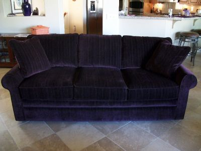 2 Purple Lazyboy Sofas
