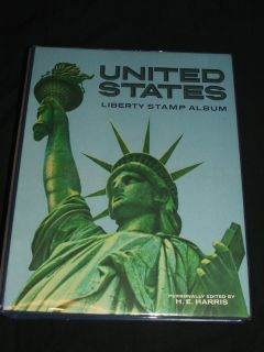 Vintage United States Liberty Stamp Album by Harris