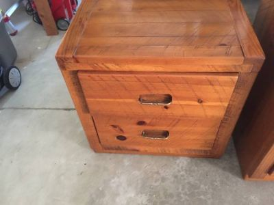 Antique vintage 2 drawer night stand chest toy clothes closet table 3