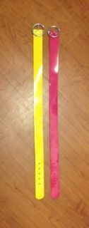 Girls bright patent belts, sz M, Limited Too (Justice)
