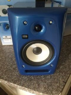 $300 KRK Rokit 6 G2 Special Edition Blue/White Studio Monitors (2)