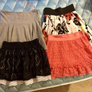 4 Girls Skirts. Size 12 and 14. All for 2.00