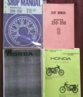 Buy 68-71 Vintage Honda CB CL SL 350 Shop Manuals parts catalog dealer setup guide motorcycle in San Diego, California, United States, for US $99.00