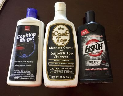 Cook top cleaners