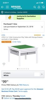 2 in 1 LEGO and play table