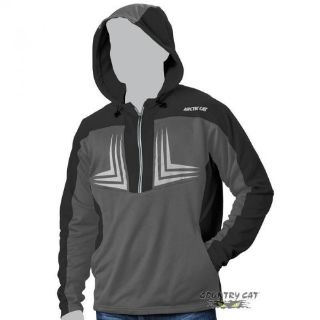 Find Arctic Cat Men s 1/2 Zip Performance Hooded Sweatshirt - Black & Gray - 5269-13_ motorcycle in Sauk Centre, Minnesota, United States, for US $41.99