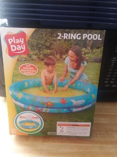 2 ring inflatable pool - Brand new