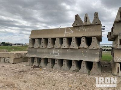 Lot of 20' Bolt In Concrete Barriers