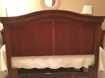 Hooker queen sized headboard. Solid cherry. Very well made. EUC. $175