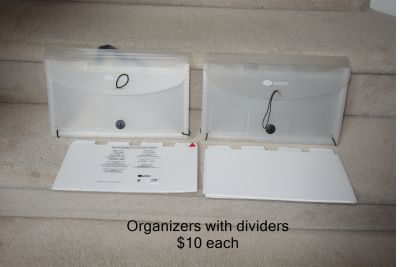 Creative Memories Organizers with Dividers