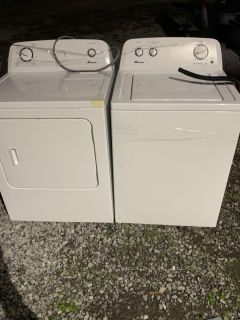 Very nice matching washer and dryer set less than a-year-old