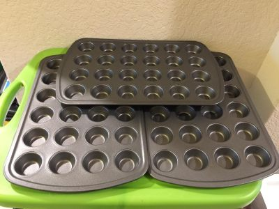 MainStays 24-Cup Non-Stick Mini Muffin Pan - Set of 3
