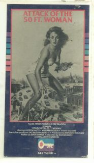 Attack Of The 50 Foot Woman HTF VHS Key Video. Condition is Good (ref # vhs fin bx 2/eb/app)