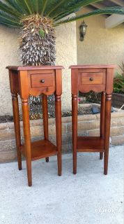 PIER ONE IMPORTS WOODEN END TABLES