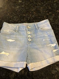 NWOT children s place ripped jean shorts. Size 8. Adjustable waist. SF. $3