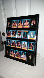 Huck Hogan Era of WRESTLING. 20 great cards with 4 of Huck Hogan. Names on cards in great wall display frame. Great man cave item. $20