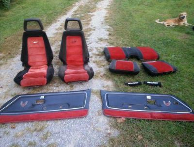 Sell 81 Trans am Recaro seats set with door panels full set very nice motorcycle in Mooresburg, Tennessee, US, for US $2,000.00