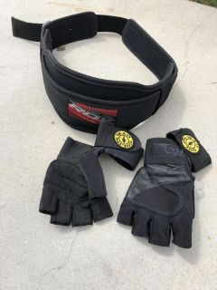 Weight belt and gloves