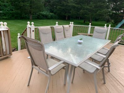 9 Pc. Aluminum/Glass Patio Dining Set