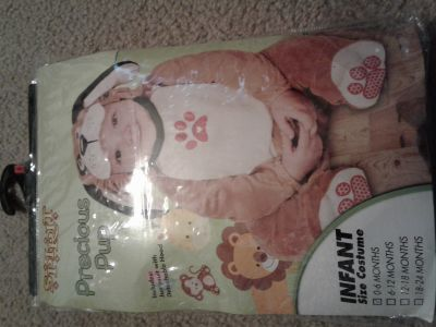 New 0-6 Month Puppy Dog Baby Halloween Costume
