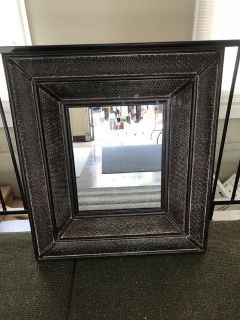 Lg Brown Wicker Mirror 32 x 36