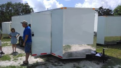 8.5 x 24 Enclosed Cargo Trailer 7000 lb Axles