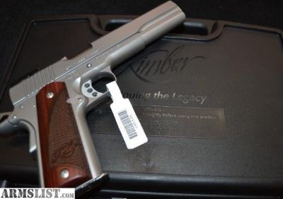 For Sale: Kimber 1911 Stainless Target II LS 10mm 6""