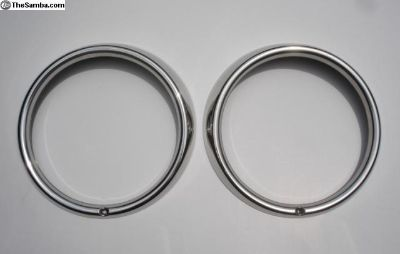 Flat 4 Stainless Steel Headlight Rings