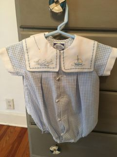 Baby boy sail boat outfit