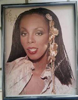 Donna Summers hand signed autographed 8 10 photo