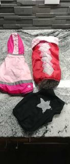 3 small dog clothing items