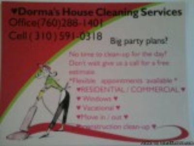 Dorma s house cleaning services