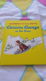Curious George in the snow 8x8 book brand new *$18.00 new