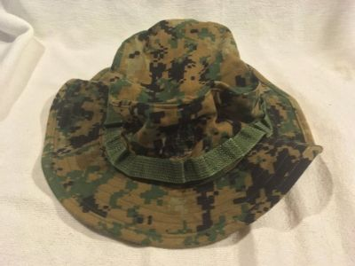 usmc marine corps woodland digital marpat field boonie large cover hat cap 02618