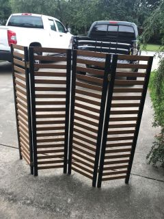 Solid Wood Room Divider, 4 Feet High x 52 Straight Across