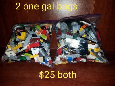 2 one gallon bags of legos
