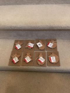 8 packs holiday chipboard tags
