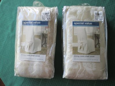 Pair Dining Rm Chair Slipcovers - NEW